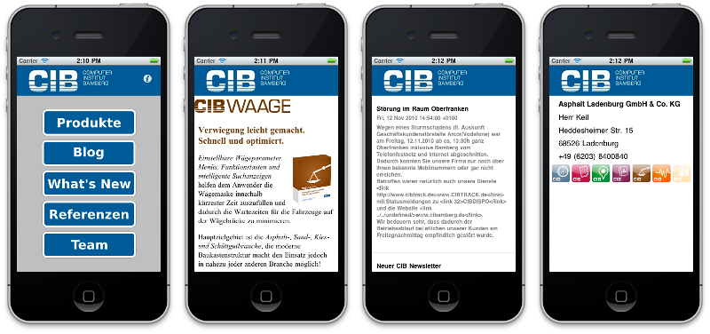 CIBApp iPhone