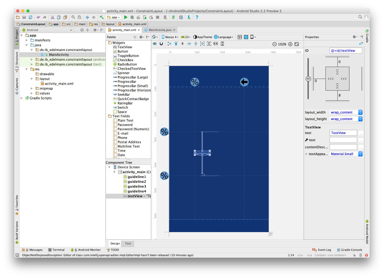 Android Studio Constraint Layout 7
