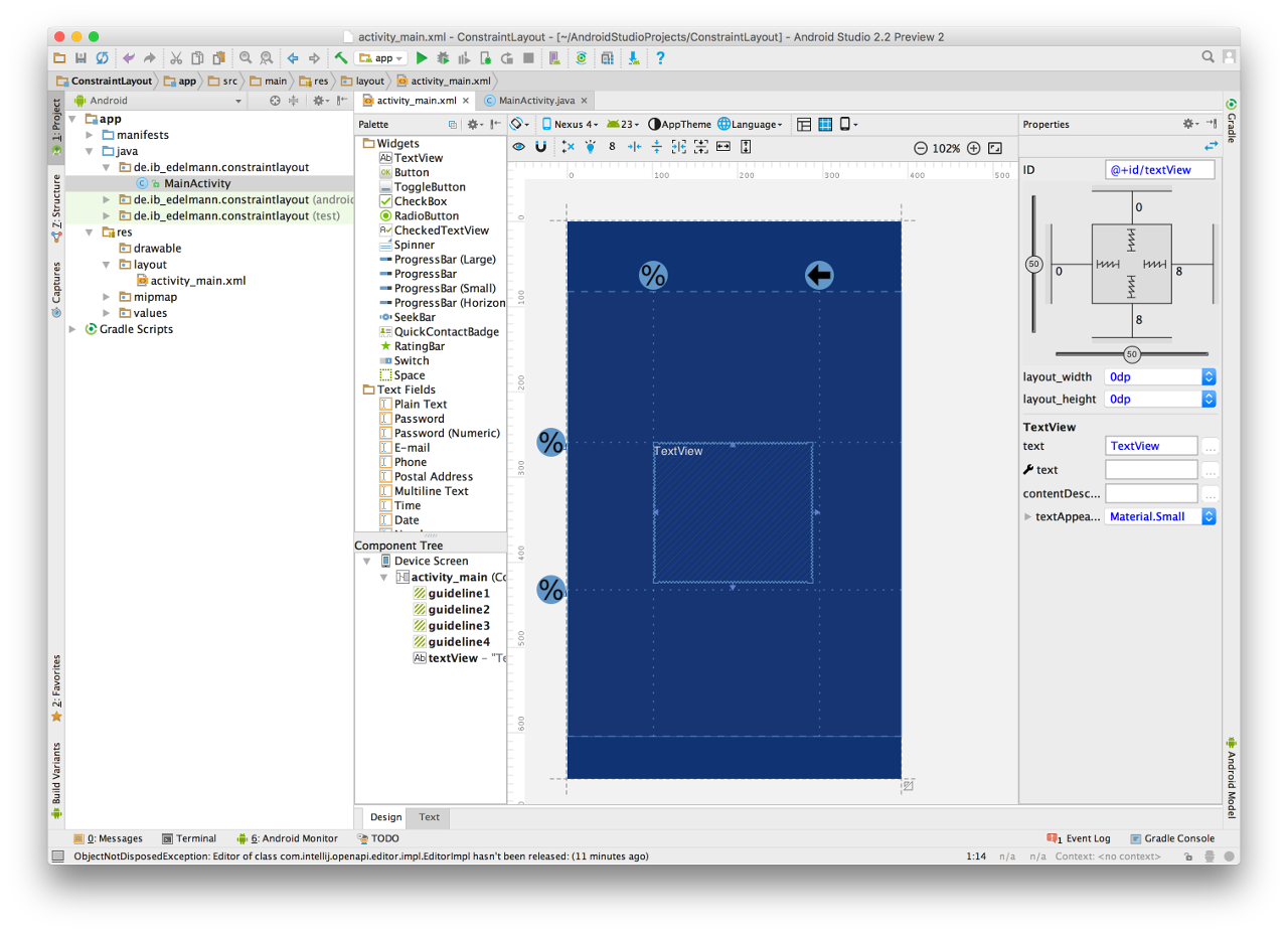 Android Studio Constraint Layout 9