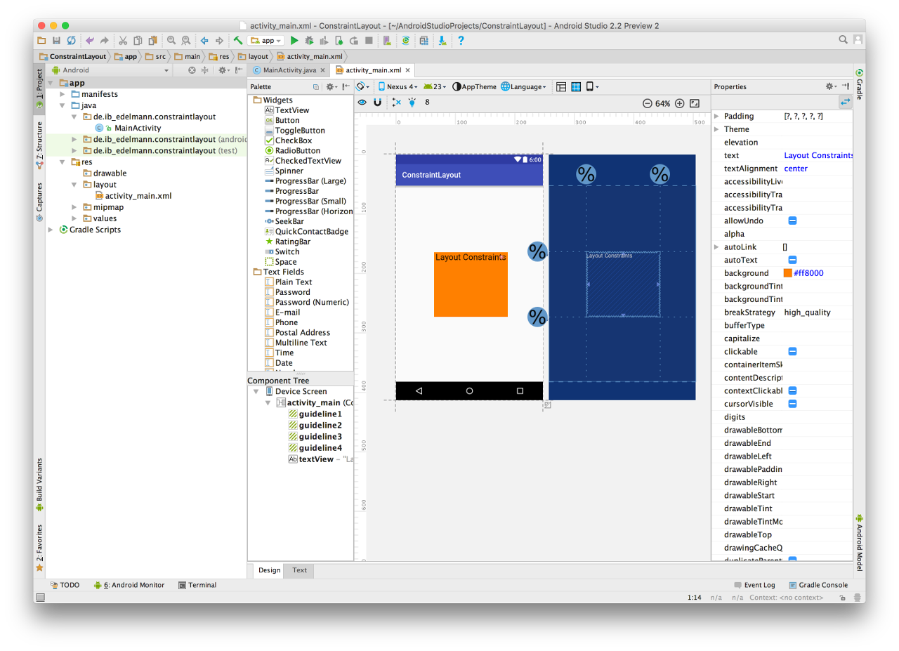 Android Studio Constraint Layout 11
