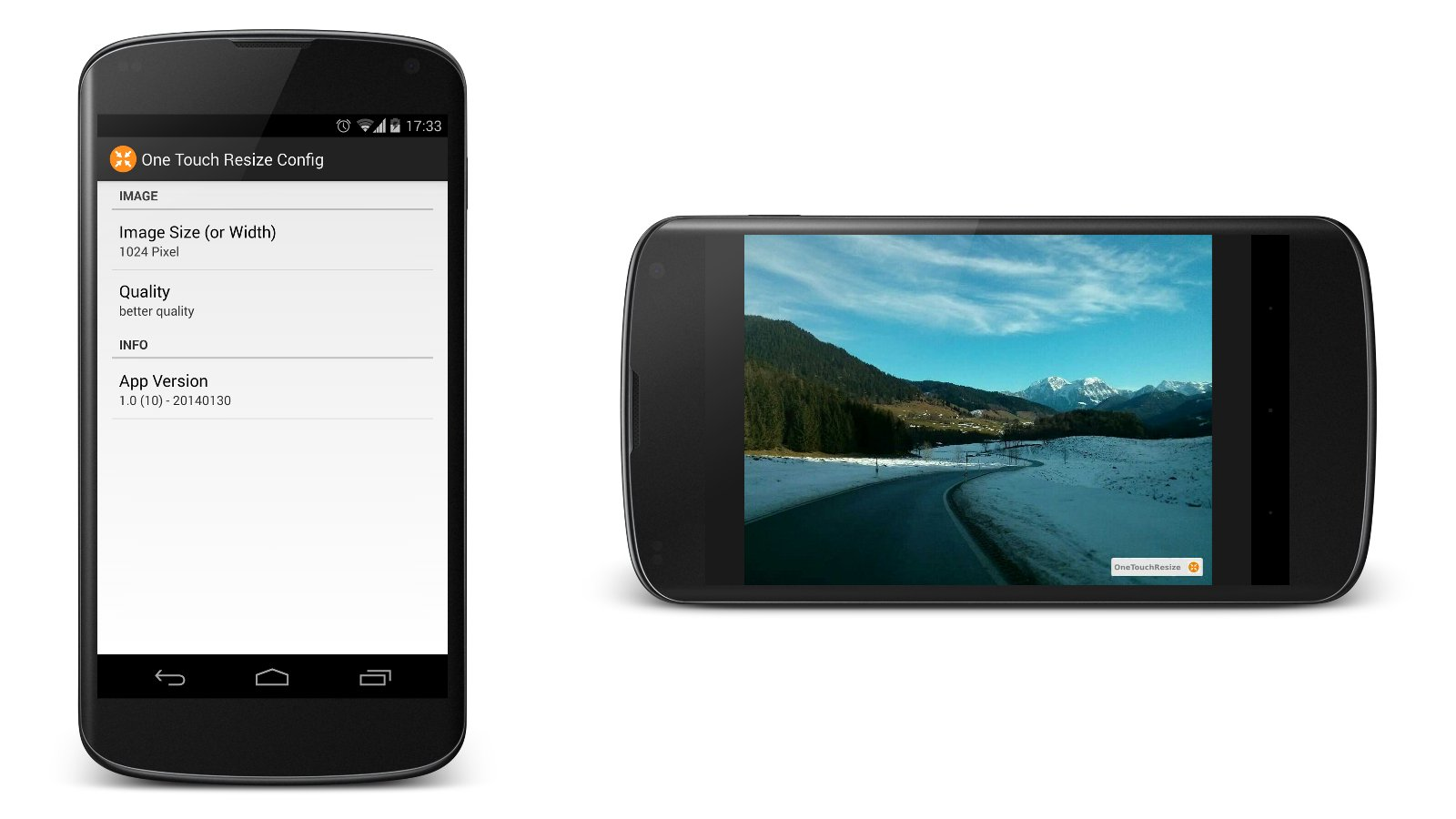One Touch Resize (Android)
